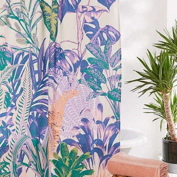Dreamy Jungle Shower Curtain | Urban Outfitters