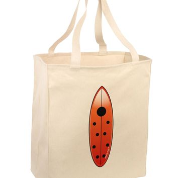 Ladybug Surfboard Large Grocery Tote Bag by TooLoud