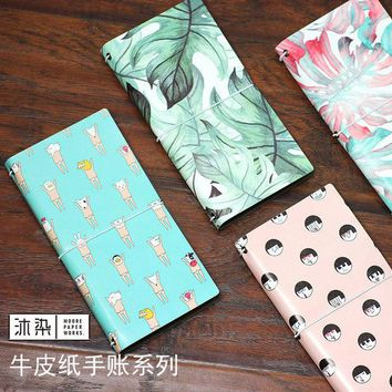 VONC1Y 1Pc Cute PU Leather Time Schedule Book Diary Weekly Planner Notebook Copybook School Office Supplies Kawaii Stationery