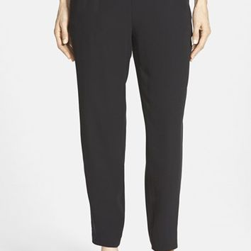 Women's Eileen Fisher Silk Crepe Slouchy Pants