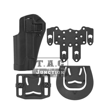 Tactical CQC Serpa Quick Left Hand Paddle Belt Loop Pistol Gun Holster w/ STRIKE MOLLE Platform for Colt 1911 M1911