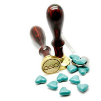 Turquoise Heart Shape Sealing Wax for Wax Seal Stamp