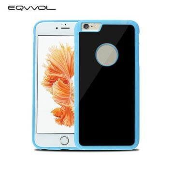 Eqvvol Anti Gravity Phone Case For iPhone X 8 7 6 6S Plus Antigravity TPU Frame Magical Nano Suction Cases Adsorbed Car Cover