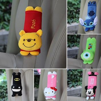 Cute Cartoon Shoulder Pads Protection Plush Padding Car Safety