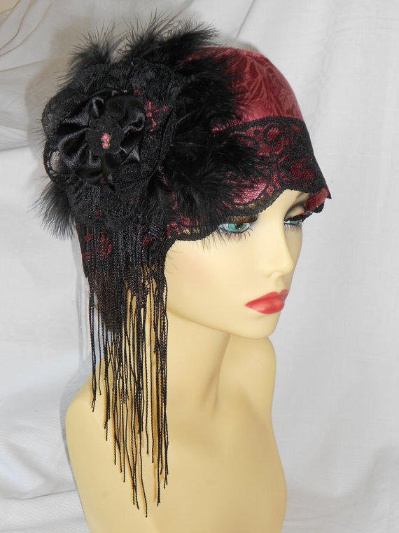 1920s inspired vintage turban style from valeriesfantasyhats