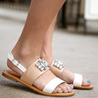 Bamboo jewel sandals