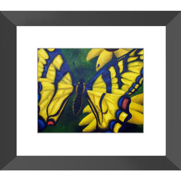 Transform and Be Free - Framed Print of Acrylic Paint Butterfly Fine Art