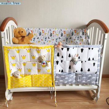 Baby Cotton Crib Organizer 60*50cm Toy Diaper Pocket for Crib Bedding Set
