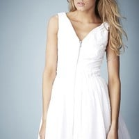 Kate Moss for Topshop Zip Front Cotton Dobby Sundress