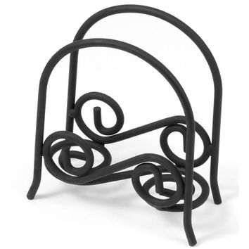 Spectrum 44310 Scroll Arch Napkin Holder, Black