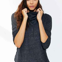 Truly Madly Deeply Cowl-Neck Henley Top-