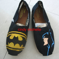 custom toms  batman TOMS shoes Hand-painted on toms shoes