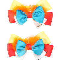 Disney Alice In Wonderland Tweedledee & Tweedledum Cosplay Hair Bow 2 Pack