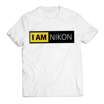 I Am Nikon Camera Unique Clothing T shirt Men