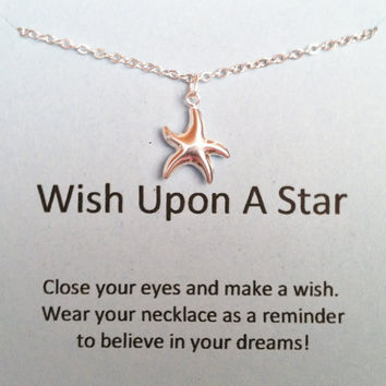 Wish Upon a Star Necklace, Sterling Silver Necklace, Minimal Jewelry