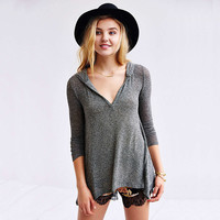 Stylish Slim Irregular Knit Long Sleeve Hats T-shirts Bottoming Shirt [7998657286]