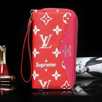 Louis Vuitton LV Fashion iPhone Phone Cover Case Wallet Purse For iphone 6 6s 6plus 6s-plus 7 7plus 8 8plus X