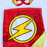 Superhero Cape and Mask READY TO SHIP Flash