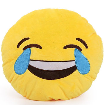 EMOJI PILLOW HAPPY TEARS