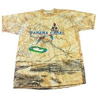 Vintage 1990s 90s 1994 Panama Canal Cotton Shirt Made in USA Mens Size M Medium