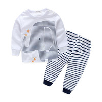 Baby Set Boys Clothes Spring Baby Boys Cotton Long Sleeve T-shirt Striped Pant 3-24M