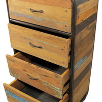 Boat Wood Dresser with 4 Drawers - Industrial - Dressers Chests And Bedroom Armoires - by Impact Imports