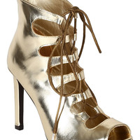 Gold Lace-Up High Heels Sandals- FINAL SALE