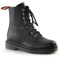 Rage Eight Hole Black Vegan Boots