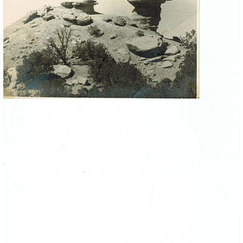Vintage Desert Postcard New Mexico Postcard Black and White Photo Post Card Vintage Postcards El Rito New Mexico