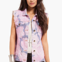 Cotton Candy Denim Vest $47