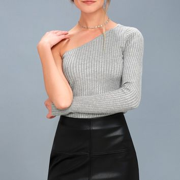 Pop Star Black Vegan Leather Mini Skirt