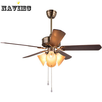 Creative Ceiling Fan W/ Light Kits For Restaurant Hotel Dining Living Room Pendant Lamp 5 Blades Foyer Home Decoration Fans