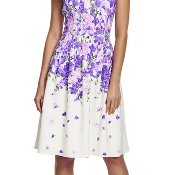Garden Party Floral Fit and Flare Dress - Adrianna Papell