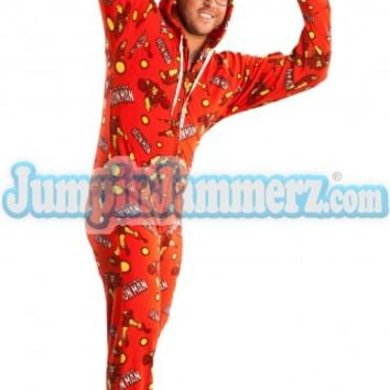 Ironman - Marvel Comics - Pajamas Footie PJs Onesuits One Piece Adult Pajamas