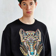 Riot Society Ornate Wolf Sweatshirt - Urban Outfitters