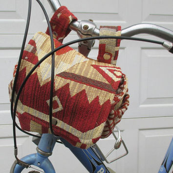 Bicycle Bag , Bike Bag Converts To A Purse ,  Southwest Design , Handlebar Bike Bag Bicycle