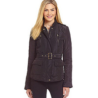 Cremieux Kelly Belted Quilted Jacket - Black