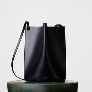 Medium Pinched Bag in Natural Calfskin