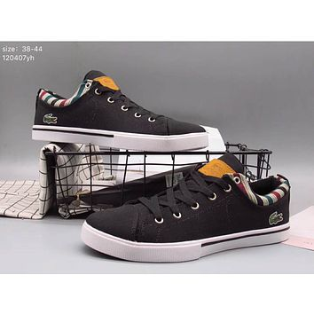 LACOSTE 17 years of leisure wear low help canvas shoes F-A36H-MY Black