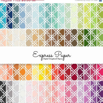 SALE 64 Pinwheel Pattern Digital Papers- 12x12 and 8.5x11 included-Digital Paper Rainbow includes dark, bright, neutral and pastel colors.
