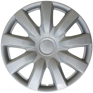"4 pc Hub Cap Set ABS Silver 15"" Inch Rim Wheel Skin Hubcaps Cover Center Caps"