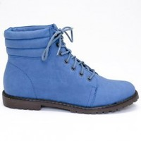 Blossom Urvasi6 Work Boot Style Blue Ankle Bootie by Blossom MODOCAT