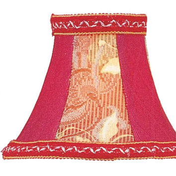 0-015446>3x6x5 Chandelier Bell Lamp Shade Rose Floral