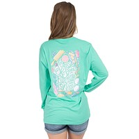 Sugar and Spice Long Sleeve Tee in Seafoam by Lauren James - FINAL SALE