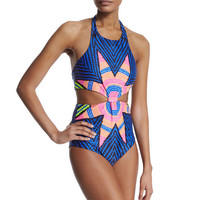Conjoined printing swimwear
