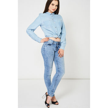 Blue Acid Wash Jeans Ex-Branded