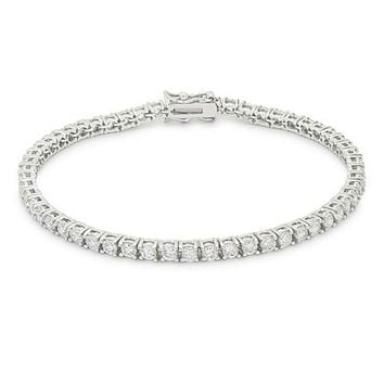 Cassidy Clear Round CZ Tennis Bracelet – 8in | 10ct