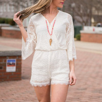 The Lisa Romper, Ivory