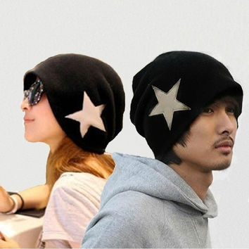 New Fashion Men's Women's Crochet Star Beanie Hat Skull Cap Ski Knit WINTER = 1958394308
