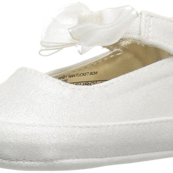 Stuart Weitzman Kids' Baby Nantucket Bow Flat White Infant (0-12 Months) 1 M US Infant '